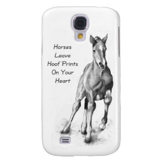 Horses Leave Hoofprints On Your Heart: Pencil Art Galaxy S4 Cover