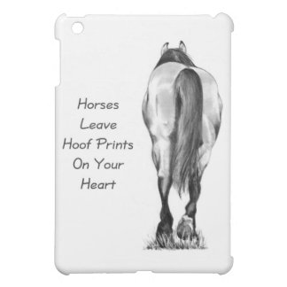 Horses Leave Hoofprints On Your Heart: Pencil Art iPad Mini Case