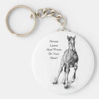 Horses Leave Hoofprints On Your Heart: Pencil Art Keychain