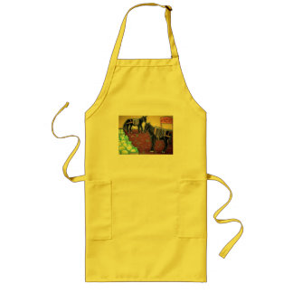 Horses & lemons long apron