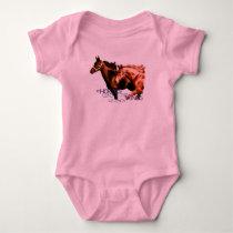 Horses Lend Us The Wings We Lack Baby Bodysuit