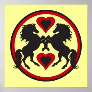 HORSES LOVE DANCE Poster