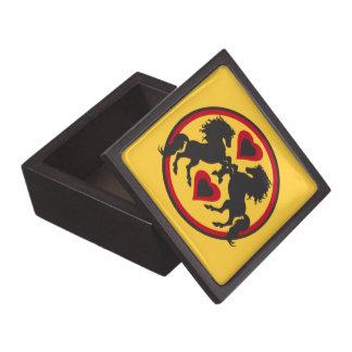 HORSES LOVE DANCE Trinket Box Premium Keepsake Box