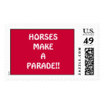 HORSES MAKE A PARADE!! POSTAGE STAMP