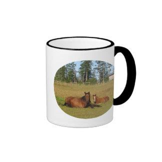 Horses: Mama and Baby Horse Lying Down Mugs