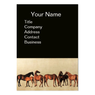 HORSES /MARES AND FOALS Black Business Cards