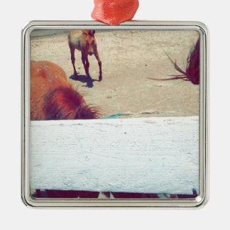 Horses Metal Ornament