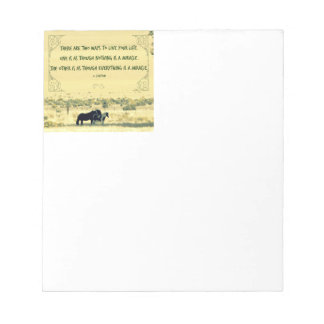 Horses - Miracle Quote Notepad