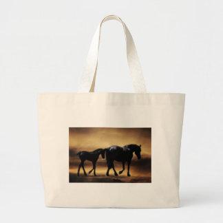 Horses mom and I Jumbo Tote Bag