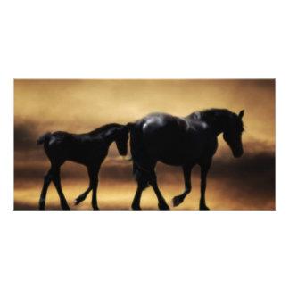 Horses mom and I Card