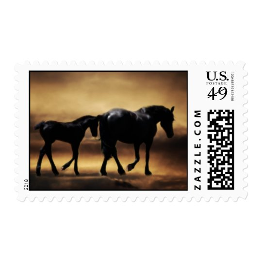 Horses mom and I Postage