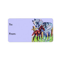 Horses Mom Baby Gift Tags
