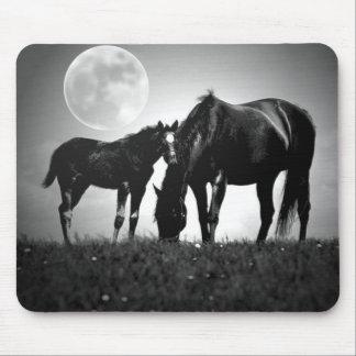Horses & Moon Mouse Pad