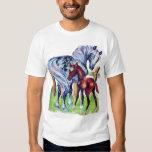 Horses Mother Baby Grass Field T-shirt