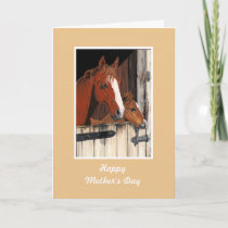 Horses Mother's Day card