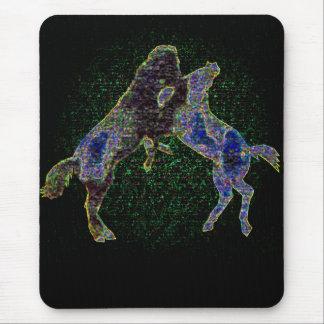 Horses Mousepad Blacklight