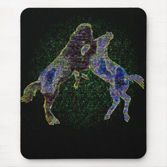 Horses Mousepad Blacklight