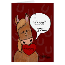 Horse's Mouth Valentine-personalize Card