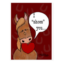 Horse's Mouth Valentine-personalize Postcard