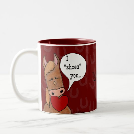 Horse's Mouth Valentine-personalize Two-Tone Coffee Mug