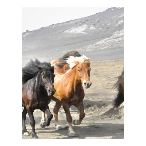 Horses moving to goal and success personalized letterhead