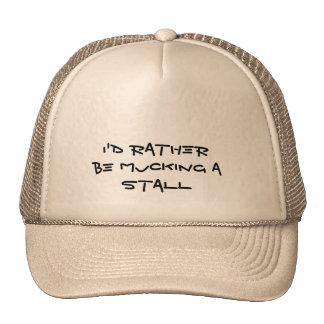 Horses - Mucking a stall Trucker Hat