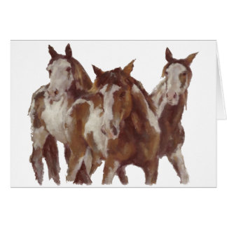 horses_mustangs.png greeting card