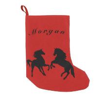 Horses - Name - Morgan Small Christmas Stocking