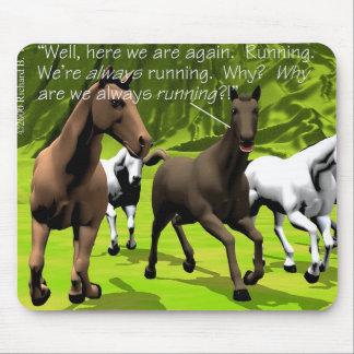 Horses - Neurotic Horse Mouse Pad