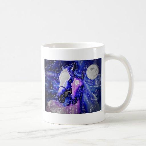 Horses & Night Coffee Mug