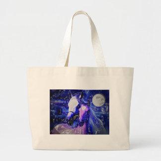 Horses & Night Large Tote Bag