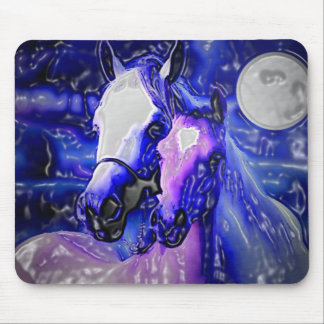 Horses & Night Mouse Pad