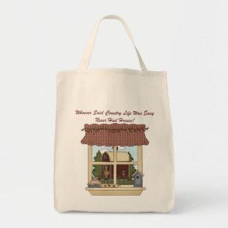 Horses Not Easy (window) Tote Bag