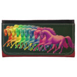 Horses of Different Colors Leather Wallet