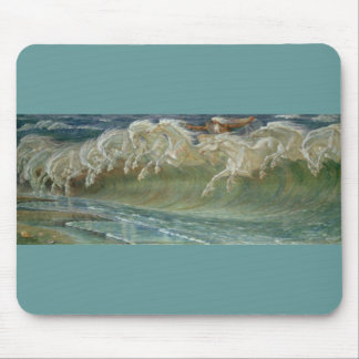 *Horses of Neptune* by Walter Crane Mouse Pad