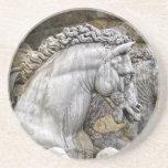 Horses of Neptune Statue Italy 1 Beverage Coaster