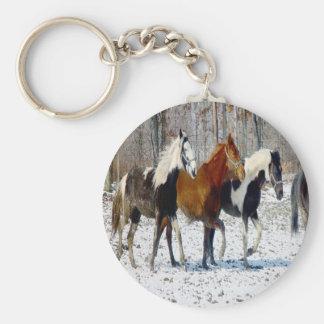 Horses on a Farm Keychain