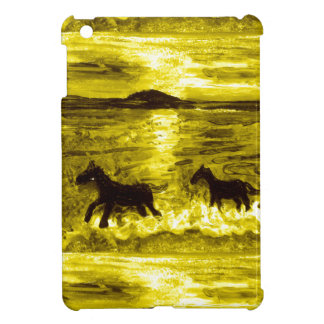 Horses on a Golden Seashore Cover For The iPad Mini