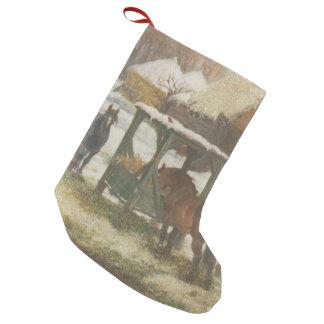 Horses on Christmas Day Small Christmas Stocking