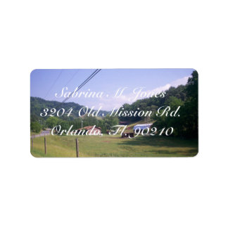 Horses On Farmland In North Carolina Label