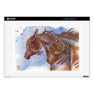 "Horses On Lapis Lazuli Watercolor Wash Skin For 15"" Laptop"