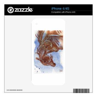 Horses On Lapis Lazuli Watercolor Wash iPhone 4 Skins