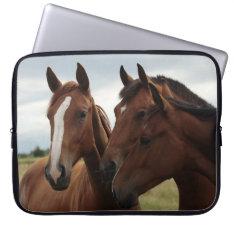 Horses on Neoprene Laptop Sleeve 15 inch at Zazzle