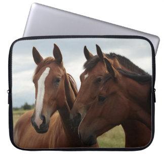Horses on Neoprene Laptop Sleeve 15 inch
