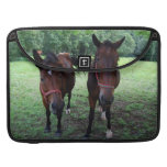 Horses on pasture sleeves for MacBook pro