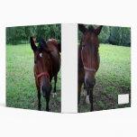 Horses on pasture vinyl binder
