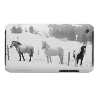 Horses on ranch iPod Case-Mate case