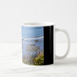 Horses on the beach coffee mug