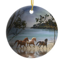 Horses on the Beach Ornament