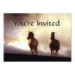 Horses On The Hill Invitation